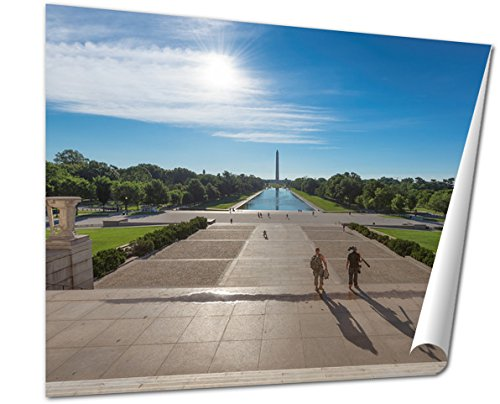 Ashley Giclee Fine Art Print, Sunrise At Lincoln Memoril Early Morning Washington Dc, 16x20, - Sunrise Mall Where Is