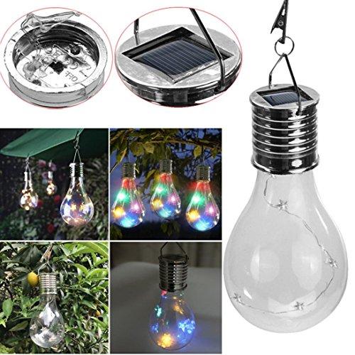 Solar Led Light Bulb With Clip