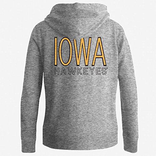 Iowa Hawkeyes Women's Full Zip Hooded Sweatshirt Captain Gray - (Iowa Womens Hoody Zip Sweatshirt)