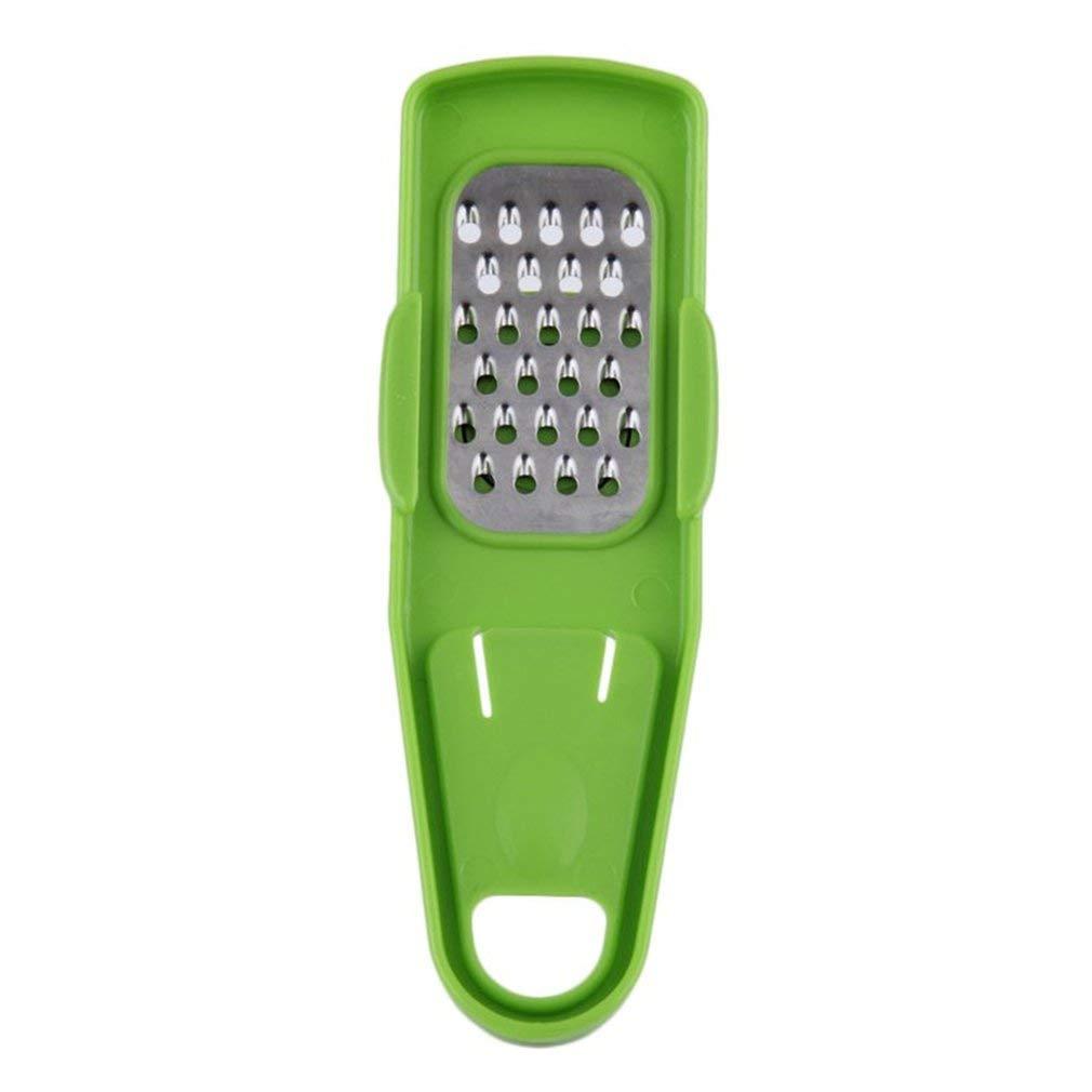 leoboone Eco-Friendly Simple Multi-Function Garlic Ginger Press Crusher Chopper Slicer Kitchen Hand Tool Grinder Vegetable Tools,green