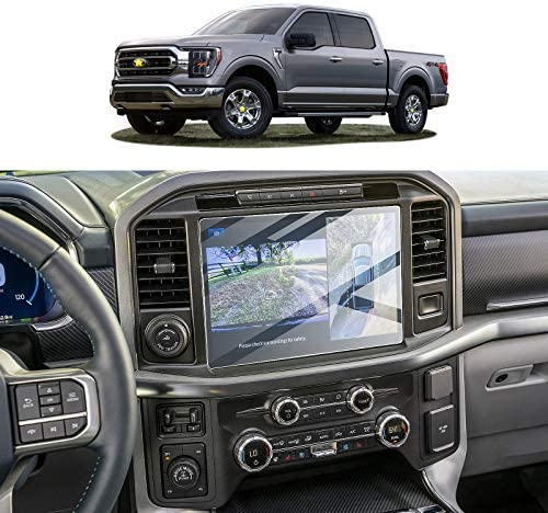 [Upgraded] 2PCS Plastic Screen Protector for 2021 Ford F-150 F150 12In sync4 Navigation Display High Clarity Anti-Scratch Touch PET Crystal Clear Protective Film