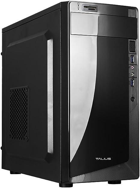 Talius Denver - Caja mATX - Lector SD - 2 X USB3.0 - Fuente de alimentacion 500W - Color Negro: Amazon.es: Informática