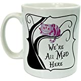 Alice in Wonderland Were All Mad Here Cheshire Cat Novelty Ceramic 10oz Mug Gift by The Supreme Gift Company