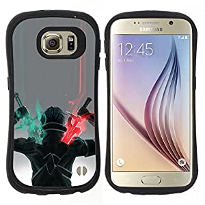 "Pulsar iFace Series Tpu silicona Carcasa Funda Case para Samsung Galaxy S6 , Espada Guerrero Arte del juego de dibujo de caracteres"""