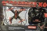 Tech Toyz AERODRONE X6 Wireless Indoor/outdoor Quadcopter Drone