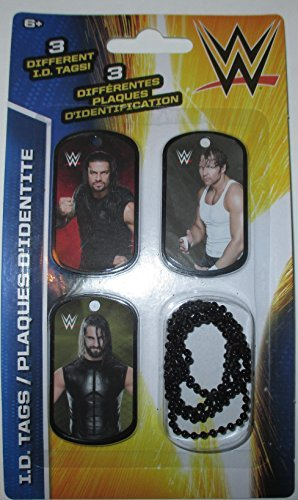 WWE The Shield ID Dog Tags With Chain Series 2 - Set P - 3 Count by (Wwe Shields)