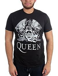 Mens Queen White Logo On Black T-Shirt