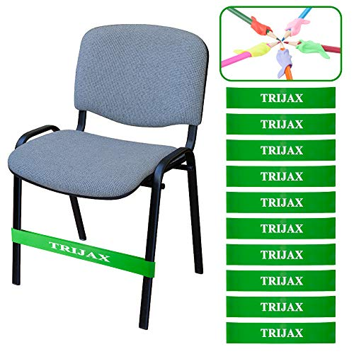 Chair Bands for Kids | Flexible Seating for Children with Fidgety Feet | Fidget Resistance Bouncy Chair Bands for Classrooms | Helps with Sensory Needs, ADD, SPD, ADHD, Autism, (10 Pack)