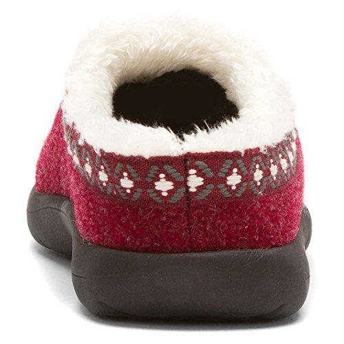 Tempur-kvinna Subarktisk Toffel Ruby ull / Nylon