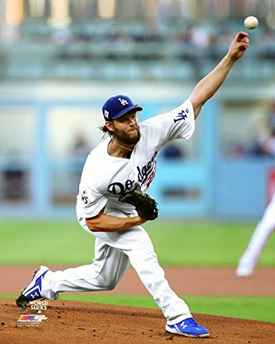 Clayton Kershaw LA Dodgers 2017 World Series Action Photo (Size: 8