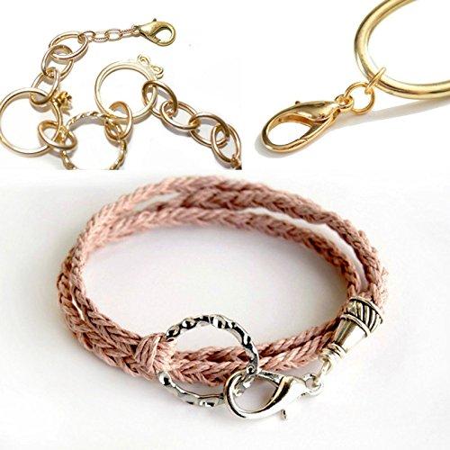 Oyfel 100X fermoirs argentes mousquetons Lobster Fermoir Alliage pour Creation Bijoux Colliers Bracelets fermoirs mousquetons 12x6mm