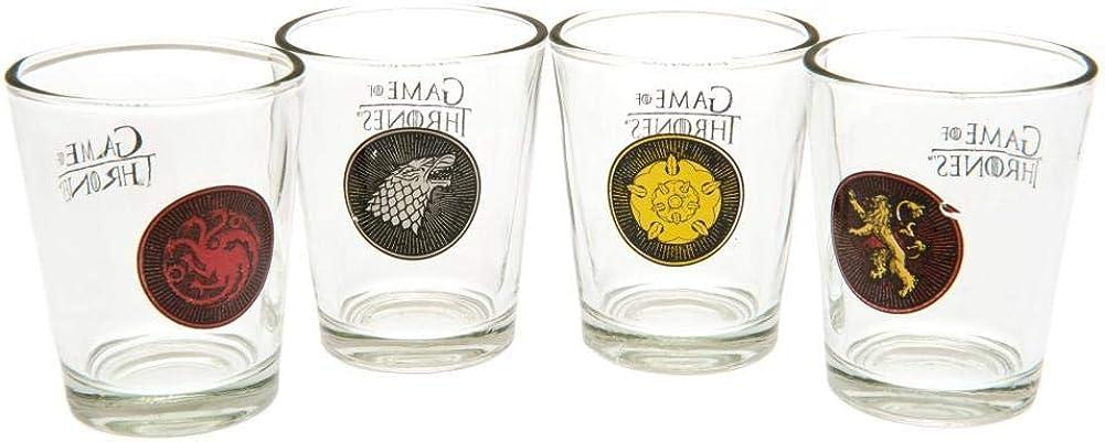 Game Of Thrones Juego de Tronos - Pack oficial de 4 vasos de ...