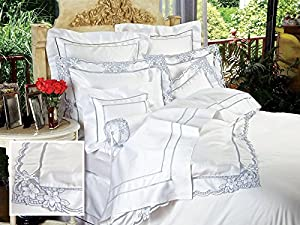 Bellagio Bed Linens, Sheet Sets, King (1 Flat, 1 Fitted, 2 Std. Shams)  (Blue)