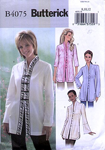 [Butterick Pattern 4075 Misses'/Misses' Petite Tunic Suizes 14-16-18] (70s Costume Patterns)
