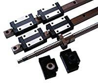 Joomen CNC 20/25/30MM Linear Guideway rail RM1605/2005/2505 ballscrew Multiple Length & Diameter Linear Motion Kit by Joomen