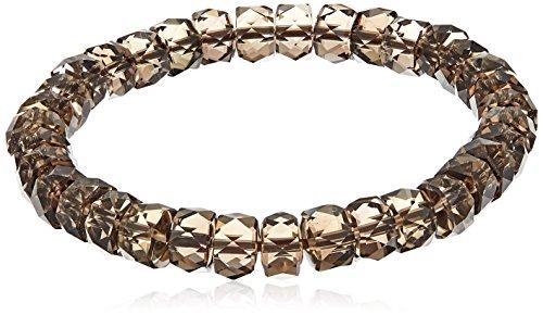 Smoky-Quartz Faceted Rondelle Stretch Bracelet, - Jewelry Smoky Quartz