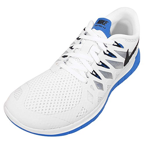 Nike Wmns Free 5.0, Scarpe da Corsa da Donna WHITE/BLACK-PHOTO BLUE-PURE PLATINUM