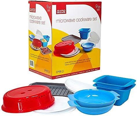 Rapid Brands Deluxe - Juego de utensilios de cocina y vajilla para ...