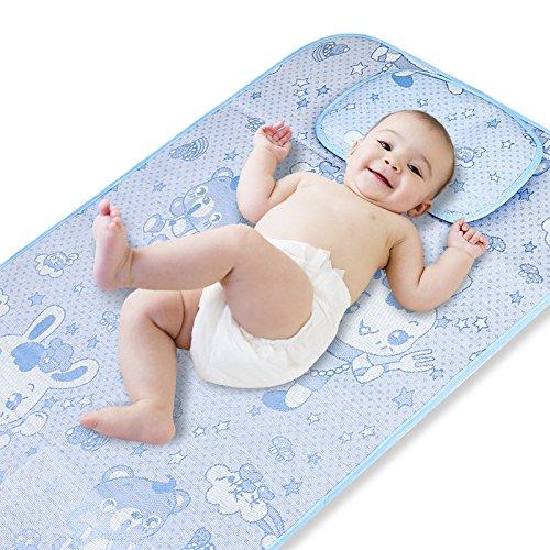 Crib Bedding Ice (Fairy Baby Flax Summer Cool Mat Baby Crib Pad 24