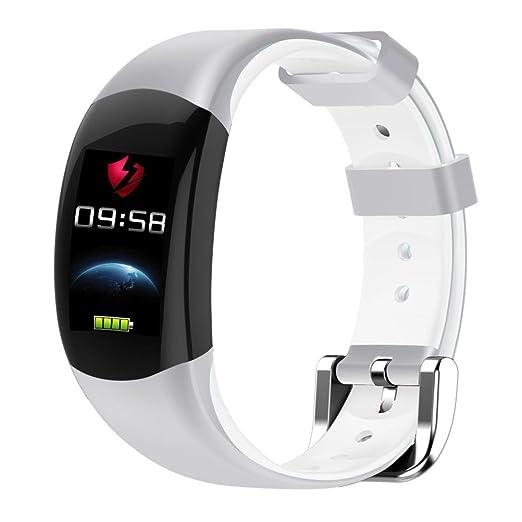 Pulsera inteligente vibración Bluetooth Fitness Rate para Xiaomi relojes reloj Android Wear para hombre para mujer Bianco: Amazon.es: Relojes