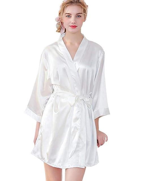 Batas de Seda de Seda Vestido de Maquillaje de Boda túnicas de Punto ...