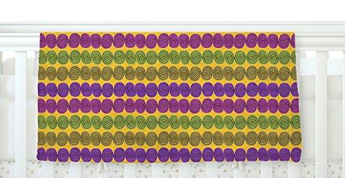 40 x 30 KESS InHouse Jane Smith Under the Sea Shells Purple Yellow Fleece Baby Blanket