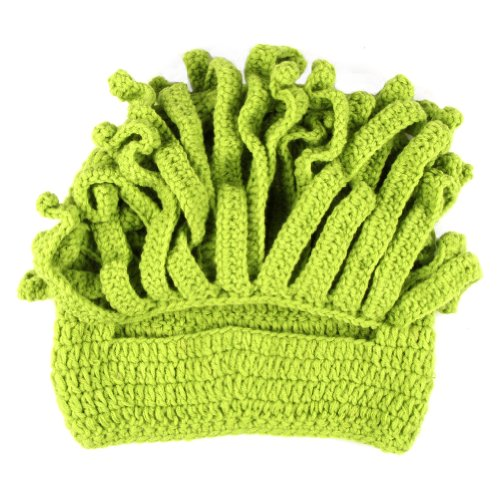 Free Fisher Unisex Barbarian Knit Beanie Octopus Green