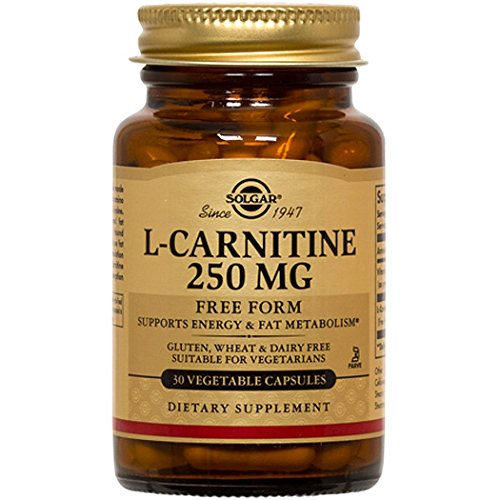 Solgar - L-Carnitine, 250mg, 30 veggie caps (Acid 250 Mg 90 Caps)