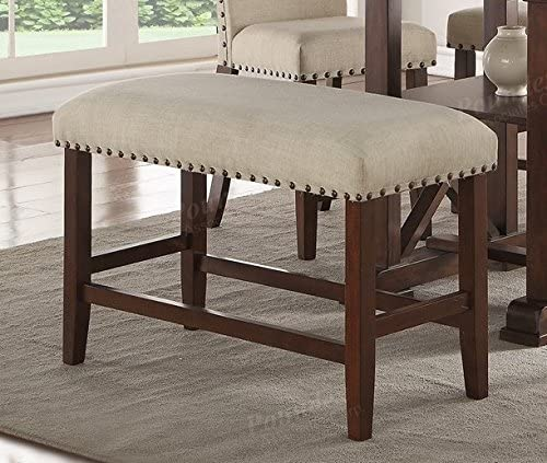 Wood Trim Dinning Room Bench