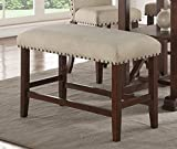 Wood Trim, Cream Seat Cushion 24″H Seat Bench
