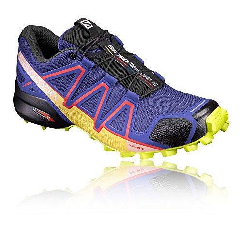 Salomon Speedcross 4 W, Zapatillas de Trail Running Para Mujer Azul (Spectrum Blue/Sulphur Spring/Fiery Red)