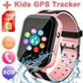Waterproof Smart Watch for Kids, Activity GPS Tracker Digital Wrist Watch Phone Built in SIM Card SOS Alarm Clock Flashlight Smartwatch for Kids Age 3-12 Electronic Learning Birthday Xmas Gifts