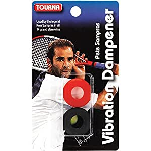 Unique Tourna Sampras Amortiguador de Vibraciones, Negro/Rojo, Black/Red