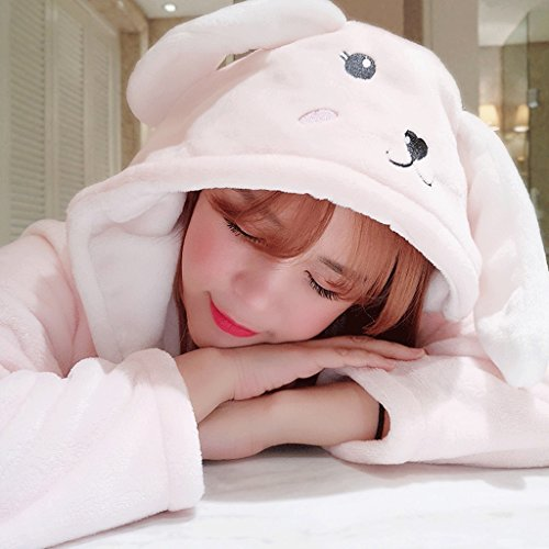 Cartoon Lady Sleep A Robe ZLR Inverno Ispessimento lungo Autunno Accappatoi Pigiama Plus cappuccio qBtYg