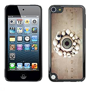 Slim Design Hard PC/Aluminum Shell Case Cover for Apple iPod Touch 5 Eyeball Parade / JUSTGO PHONE PROTECTOR