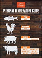 Traeger BAC462 Internal Temperature Guide Reference Magnet, Brown and White made by  famous Traeger Grills