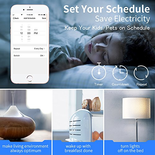 Smart Plug 4-Pack Upgraded Mini WiFi Smart Socket Outlet Work with Amazon Alexa Echo/Google Assistant and IFTTT, No Hub Required by KKUP2U by KKUP2U (Image #4)