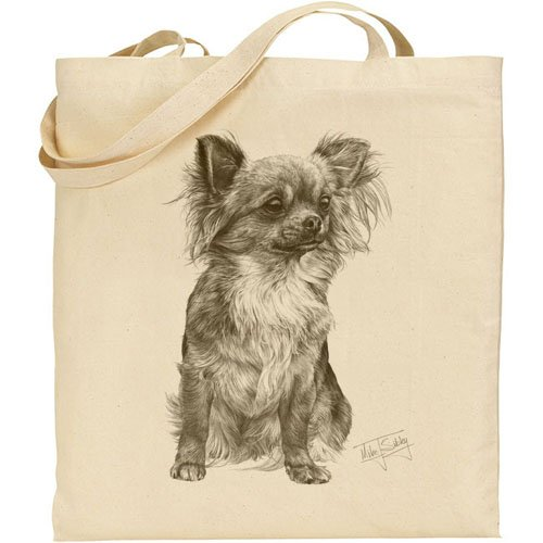 Mike Sibley Chihuahua Cotton Natural Bag (Leeds Shops Sofa)