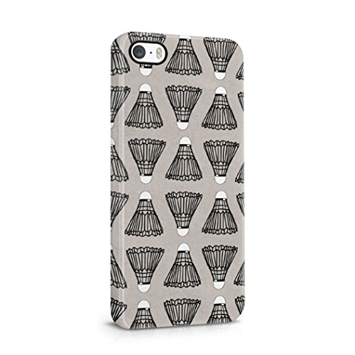 Badminton Shuttlecock pattern Protective Hard Plastic Shell Case Cover For iPhone 5 & iPhone 5s & iPhone SE - 4900 Rugby