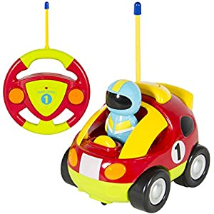 Best Choice Products Kids 2 Channel Beginner Remote Control Cartoon Racing Car