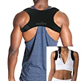 Discreet Posture Corrector for Men AND Women that Provide Clavicle and Shoulder Support, Relieve Pain, Improve Thoracic Kyphosis, Prevent Slouching | Under Clothes Upper Back Brace | Adjustable Size
