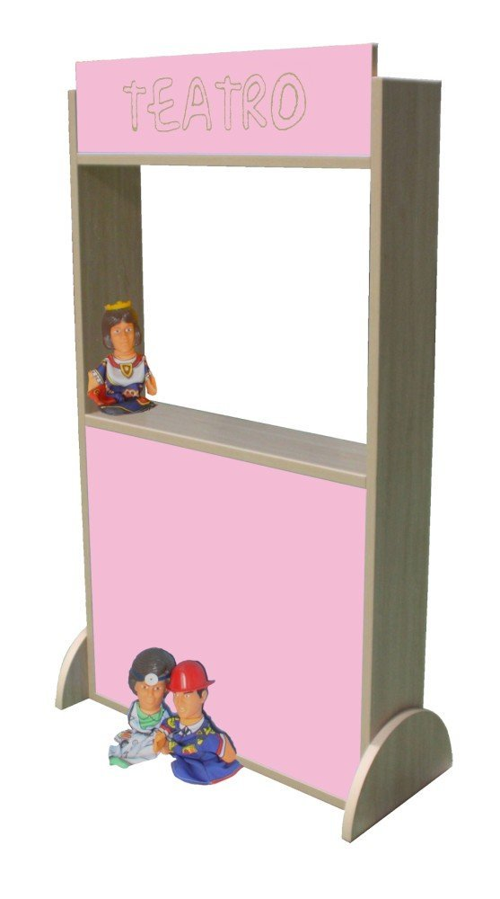 Pink 71 x 115 x 30 cm Mobeduc Eco Theatre, 71 x 115 x 30 cm, Wood, Lavander bluee