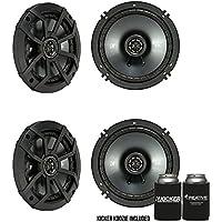 Kicker CSC65 6.5-Inch (160mm) Coaxial Speakers, 4-Ohm Bundle