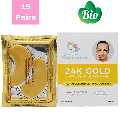 Under Eyes Puffy Eye Bags Treatment Mask, Dark Circles Corrector, Wrinkles, Anti Aging Treatment with Collagen Hyaluronic Acid