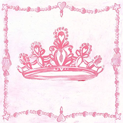 Princess Crown Canvas Wall Art (Oopsy Daisy Too's Princess - Crown Canvas Wall Art Size 21x21)