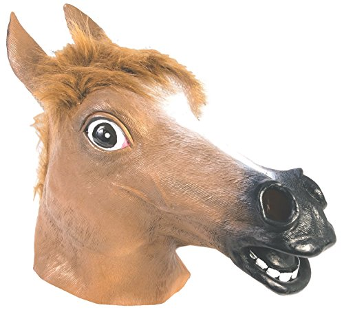 (Brown Horse Latex Mask)