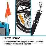 Klarfit-Husky-Vario-2-in-1-Rimorchio-da-Bici-e-Buggy-per-Cani-Vol-240-L-Materiale-600D-Oxford-Canvas-SmartSpace-Concept-Carico-Massimo-40-kg