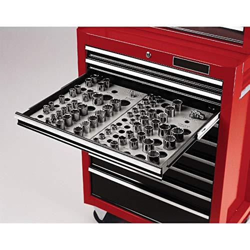 Wrench Socket Organizer Set 6-Tray Divider Holds 195 Storage Toolbox