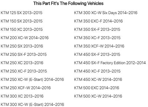 KTM 150 XC 2013-2015 Acerbis Radiator Scoops 16 KTM Orange//Black Fits