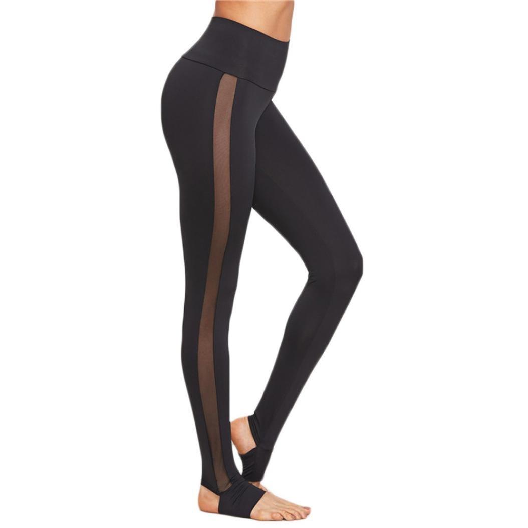 Honestyi, Malla de yoga de empalme de la mujer yoga de entrenamiento flaco polainas pantalones deportivos de fitness 132